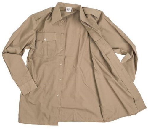 Belgian Army Long Sleeve Khaki Service Shirt from Hessen Surplus
