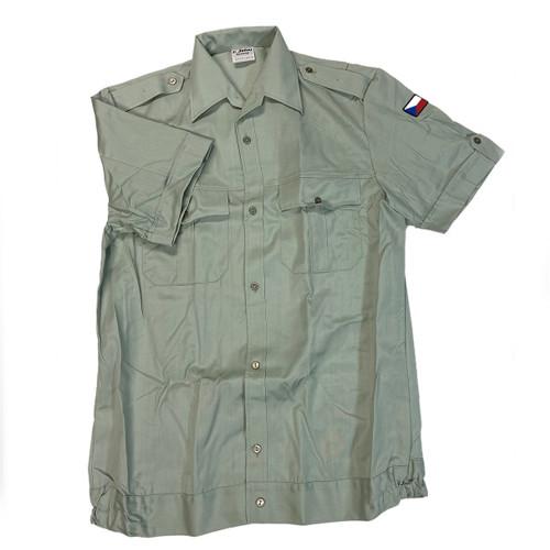 Czech Green Short Sleeve Service Shirt Like New from Hessen Antique