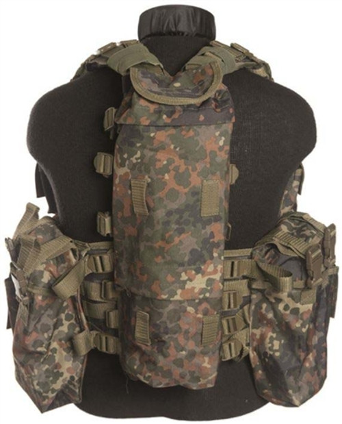 Mil-Tec Flecktarn 12 Pocket Tactical Vest from Hessen Antique