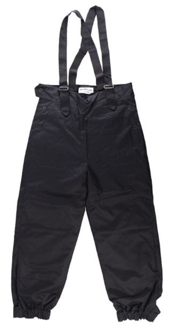 Polish Military Black Insulated Winter Pants With Suspenders from Hessen Surplus