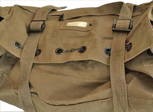 Italian Army Khaki Cotton Kit Bag from Hessen Antique