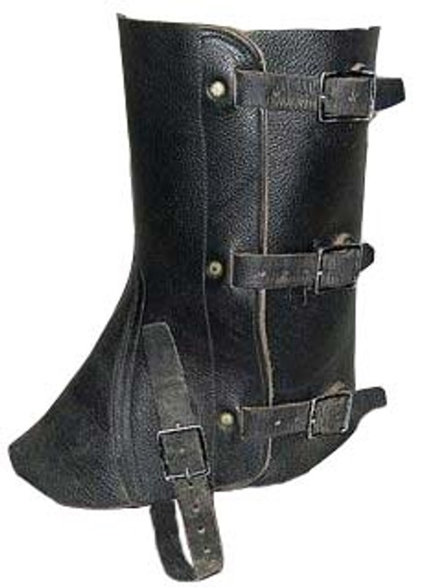 Swiss Black Leather Gaitors from Hessen Antique