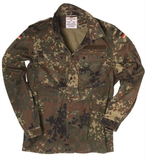 Bundeswehr Light Weight Flecktarn Field Shirt from Hessen Surplus