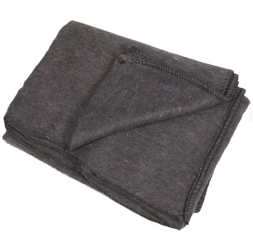 Bulgarian Grey Wool Blanket from Hessen Antique
