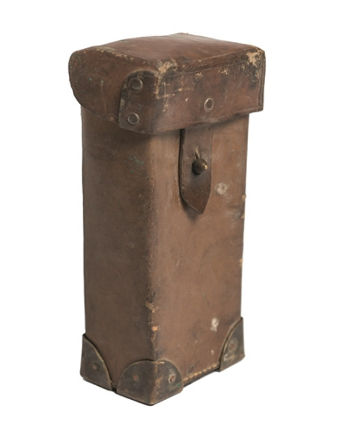 French Large Leather Magazine Pouch- Used from Hessen Antique