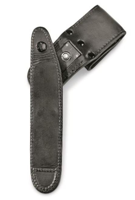 German Black P10 Leather Holster - Used