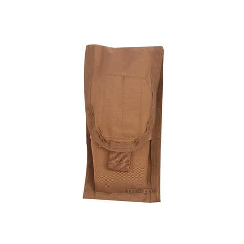 MOLLE compatible M-4 magazine pouch holds two 30 round magazines.