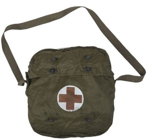 Dutch Military OD Medic Bag With Shoulder Strap from Hessen Antique
