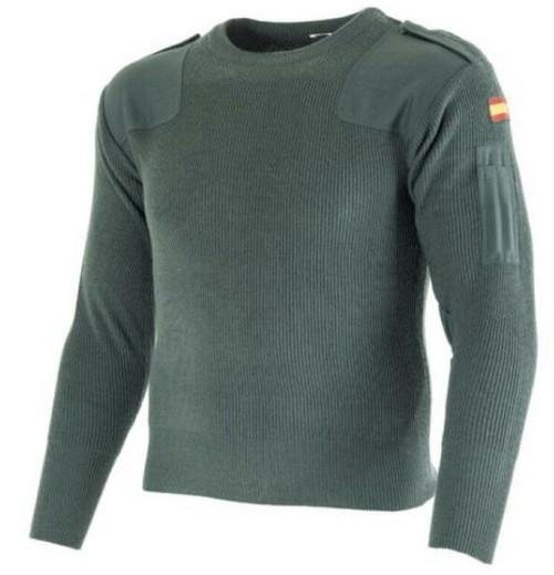 Spanish Military Green Commando Sweater from Hessen Antique