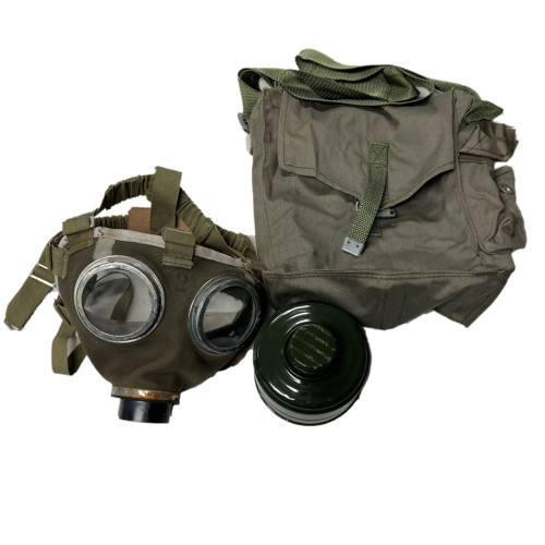 Hungarian M75 Gas Mask W/ Filter & Bag from Hessen Antique