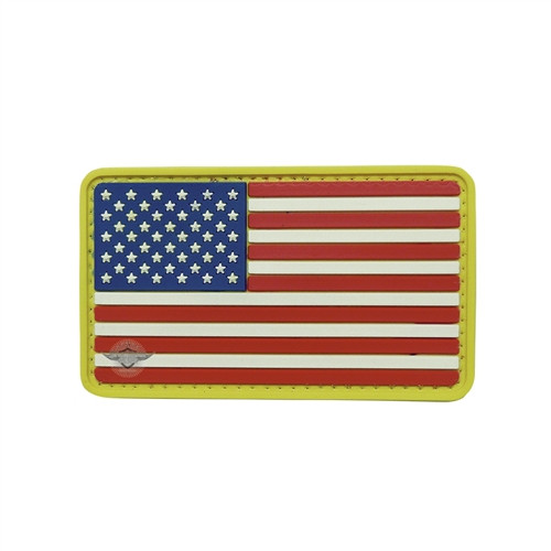 PVC American Flag Patch - With Hook Fastener from Hessen Antique