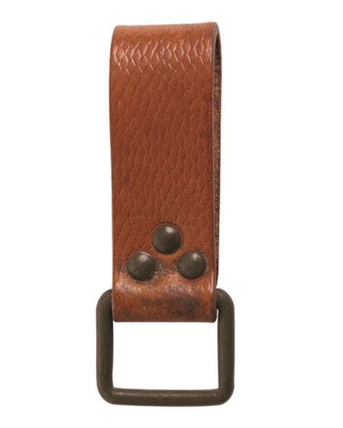 Czech Brown Leather Belt Hanger from Hessen Antique