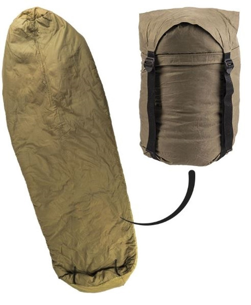 Czech Army OD Mummy Style Sleeping Bag from Hessen Antique