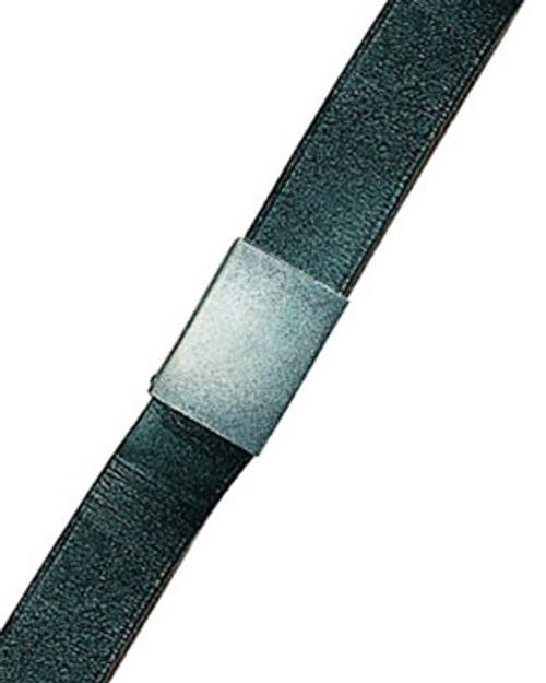 Bundeswehr Black Leather Trouser Belt from Hessen Antique