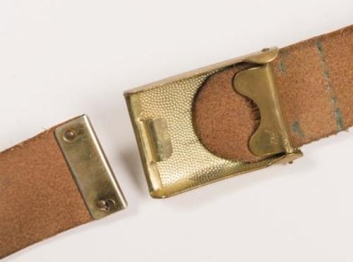 Bundeswehr Navy Leather Trouser Belt from Hessen Antique