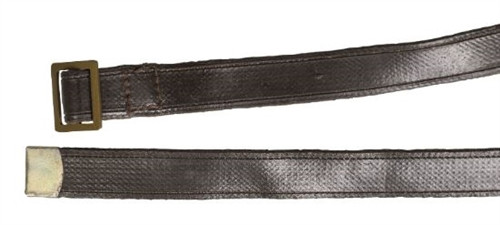 Russian Army Brown Canvas Trouser Belt With Brown Leatherette from Hessen Antique