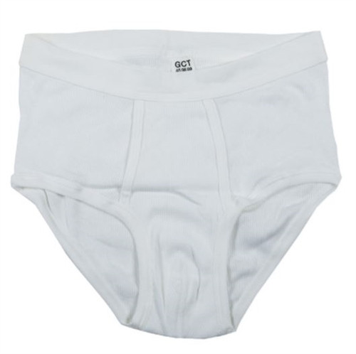 Bw White Ribbed Briefs - New from Hessen Surplus