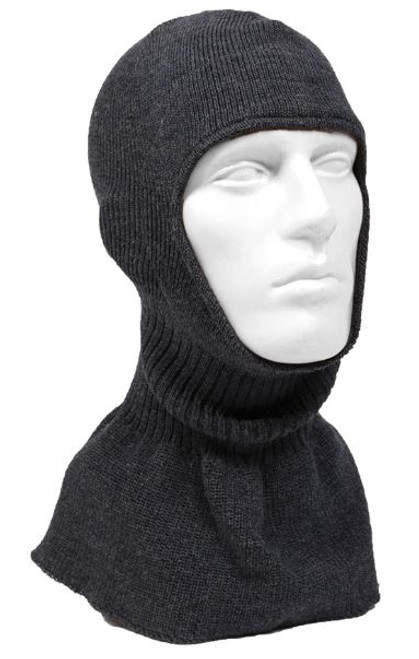Belgium Army Gray Wool Balaclava - Used from Hessen Antique