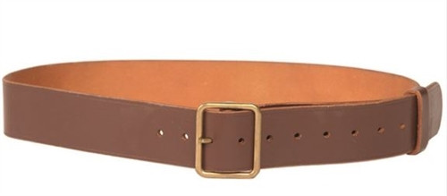 Swiss Army Brown Leather Trouser Belt from Hessen Antique