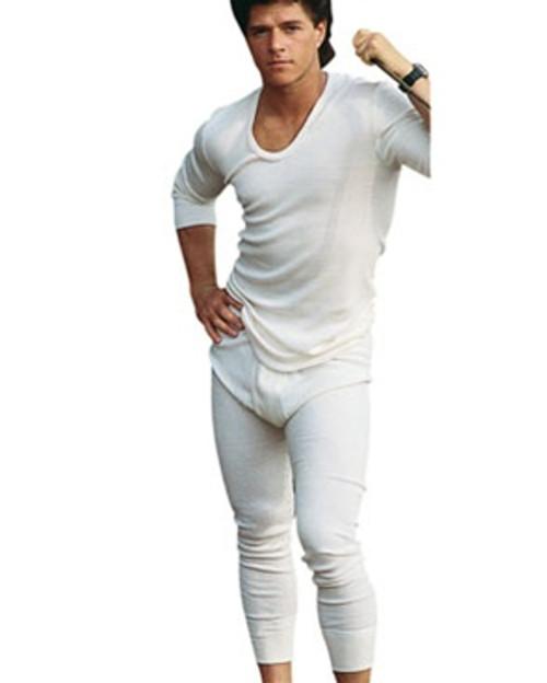 East German White Long Underwear Set from Hessen Surplus