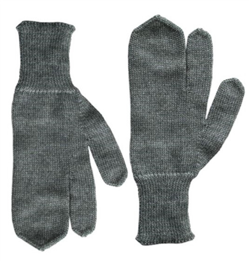 Swiss Army Issued 3 Figure Wool Gloves from Hessen Antique