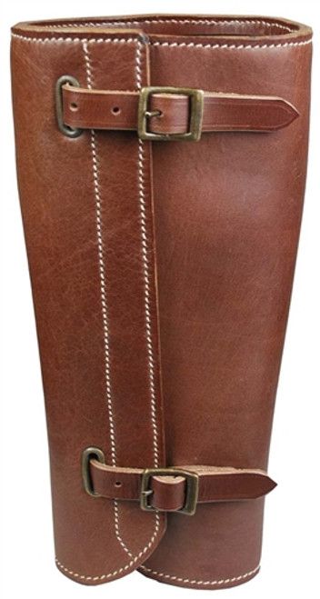 WWI German Officer's Leather Gaiters from Hessen Antique