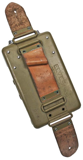 WWII Dated Swiss Army 4.5V Flashlight - Ordnance Tan
