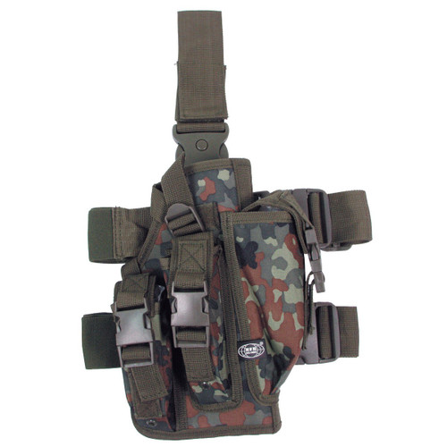 Drop Leg Holster, German Bundeswehr Flecktarn type