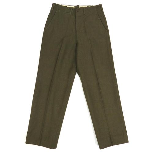 WWII U.S. Army Trousers, Field, Wool, Serge, OD 33