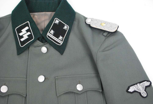 SS Lt. Colonel M35 Gabardine Jacket With Insignia - Size: 40 (Med)