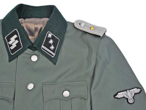 SS 1st Lieutenant M35 Gabardine Jacket With Insignia - Size: 42 (Large)