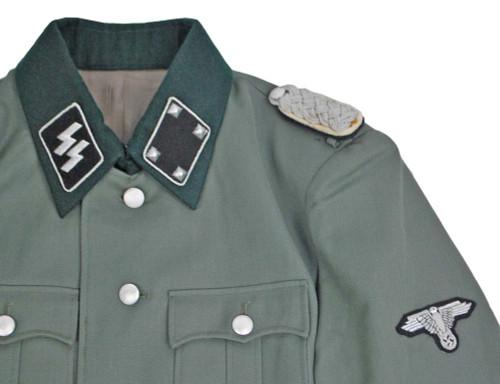 SS Major M35 Gabardine Jacket With Insignia - Size: 44 (Large)