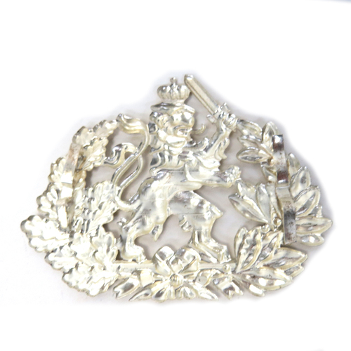 Hessen Silver Pickelhaube Plate - German Made