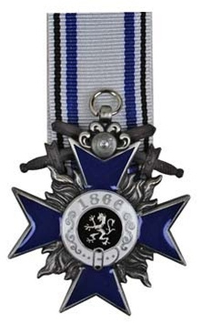 Bavarian Military Merit Medal - 4th Class from Hessen Antique