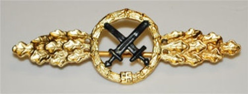 Luftwaffe Air to Ground Clasp - Gold from Hessen Antique