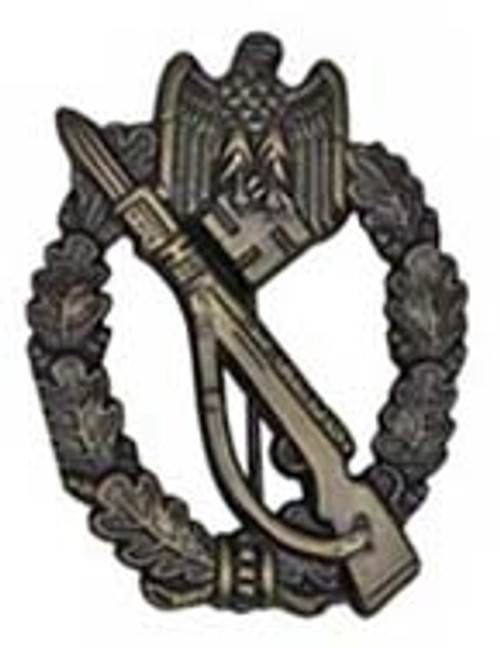 Infantry Assault Badge - Silver (Infanterie-Sturmabzeichen) from Hessen Antique