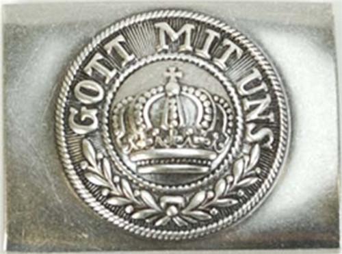 Prussian Steel Belt Buckle from Hessen Antique