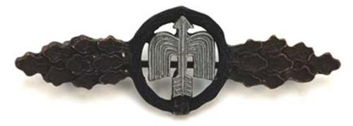 Luftwaffe Night Fighter Clasp - Bronze from Hessen Antique