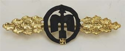 Luftwaffe Night Fighter Clasp - Gold from Hessen Antique