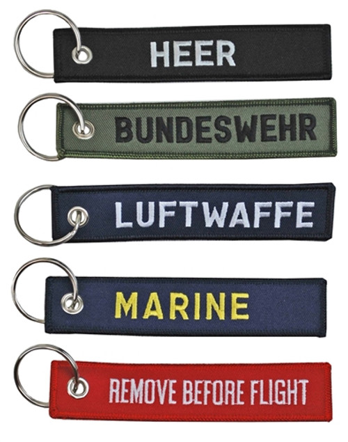 Bundeswehr Embroidered Key Chain Fobs from Hessen Antique