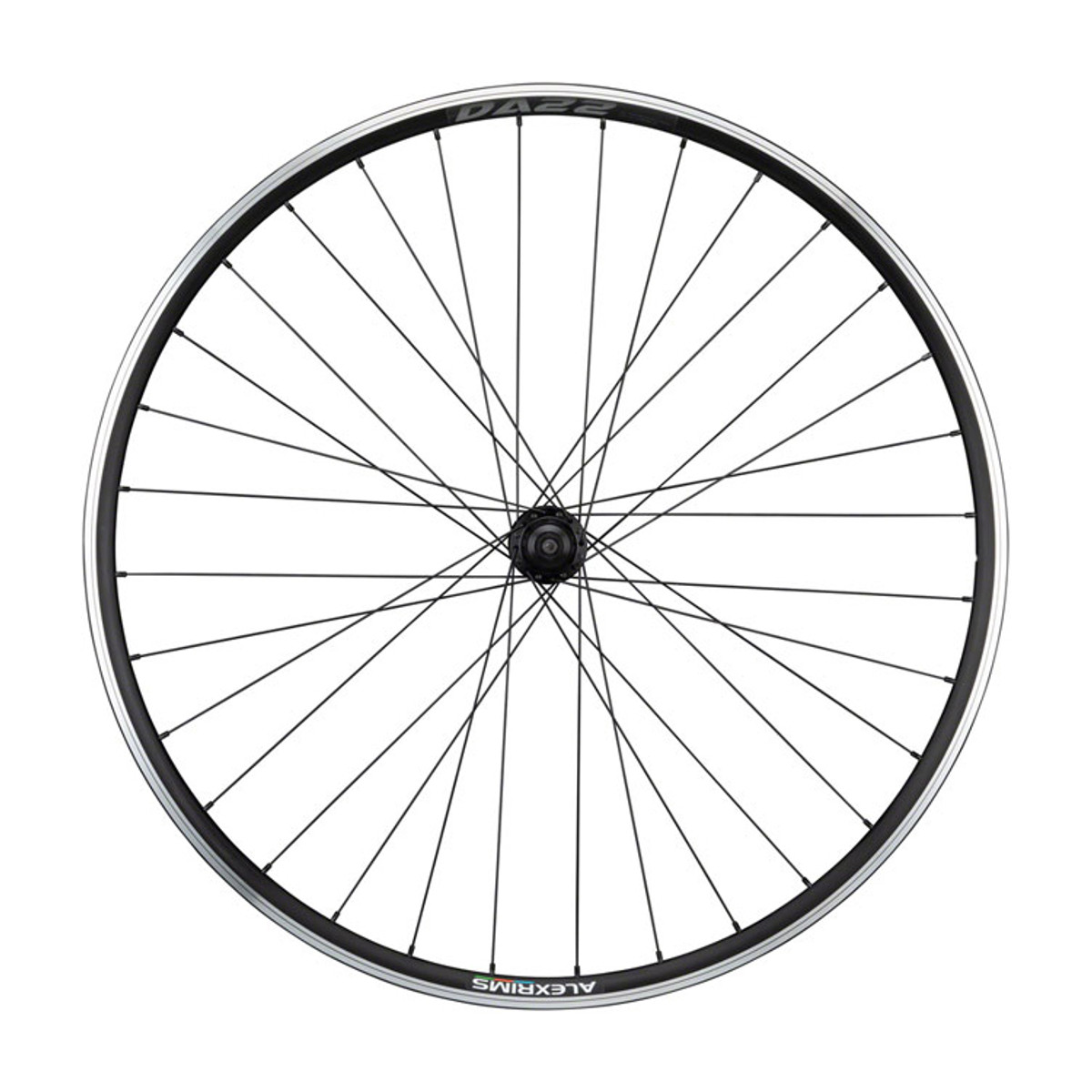 Quality Wheels Tiagra/DA22 Rear Wheel - 700, QR x 130mm, Rim Brake, HG 11, Black, Clincher