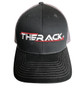 THERACK Black Hat - THERACK Stylized Embroidered Black w/grey hat with a snap back.