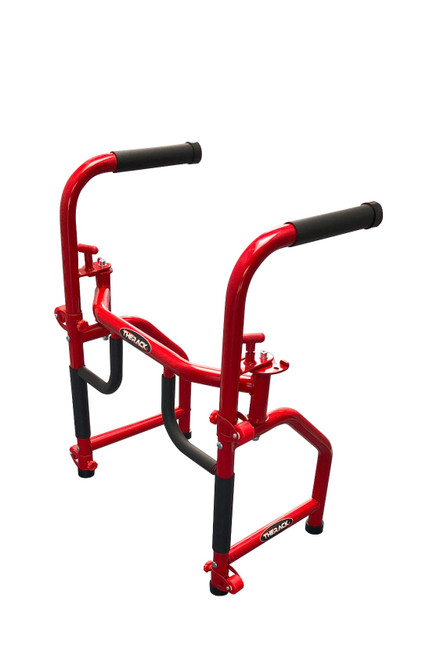 THERACK® Red 30lb All In One Gym Constructed of Steel.