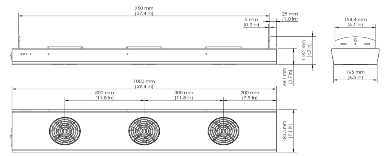 Overhead Ionizing Fan 6220