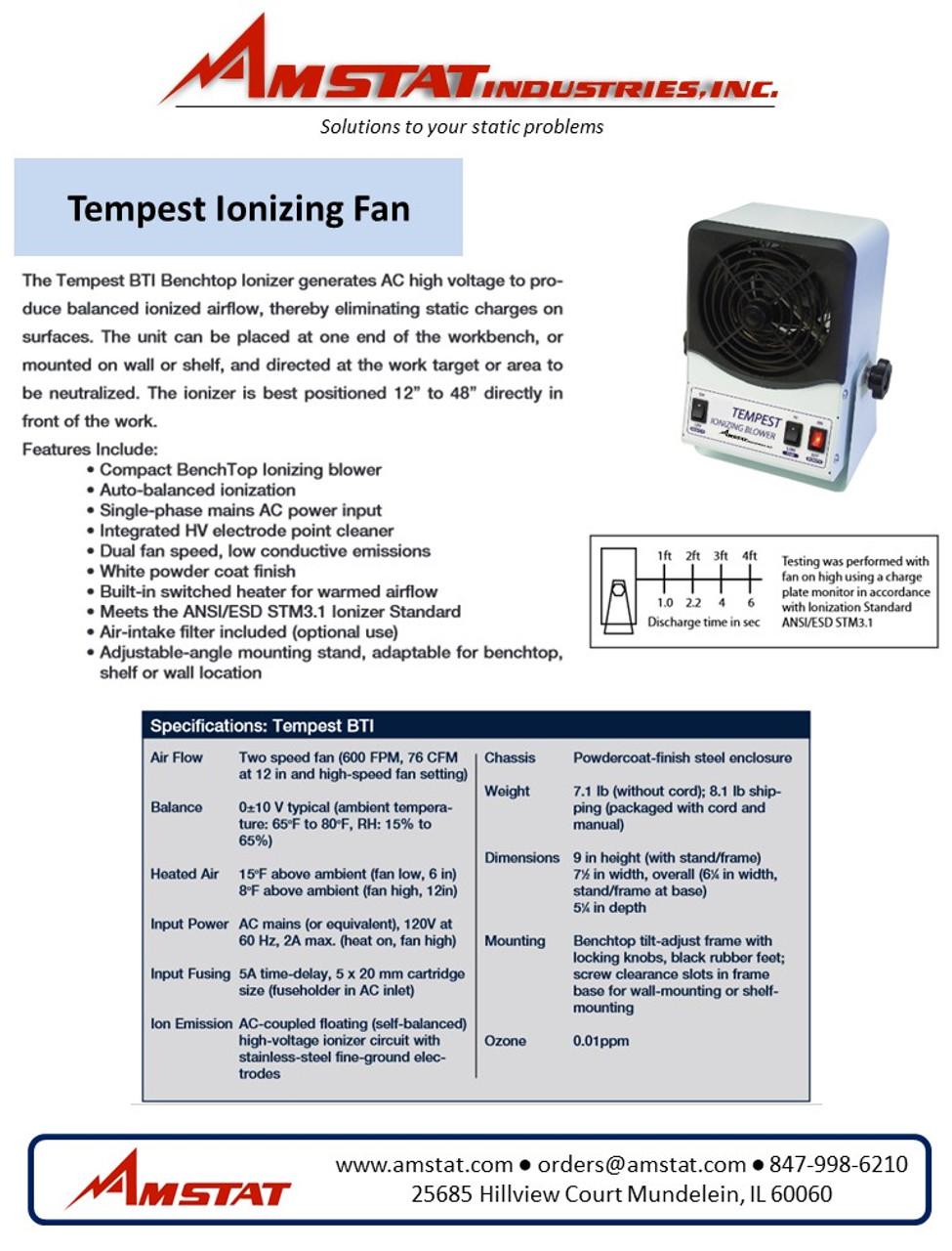 Tempest Ionizing Fan