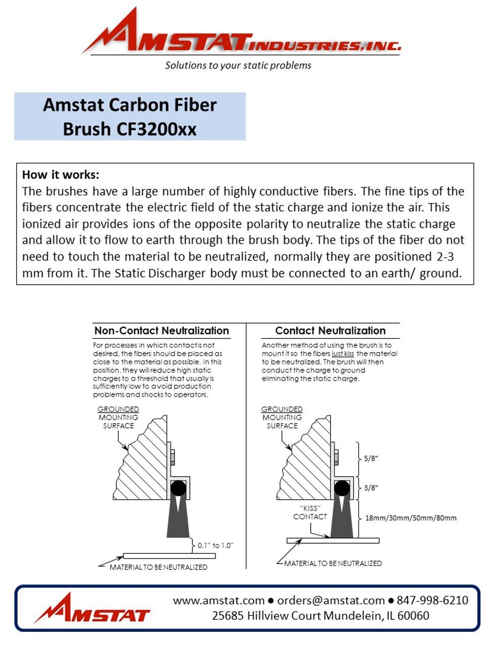 Carbon Fiber Brushes (18mm bristles) - $6.00/inch