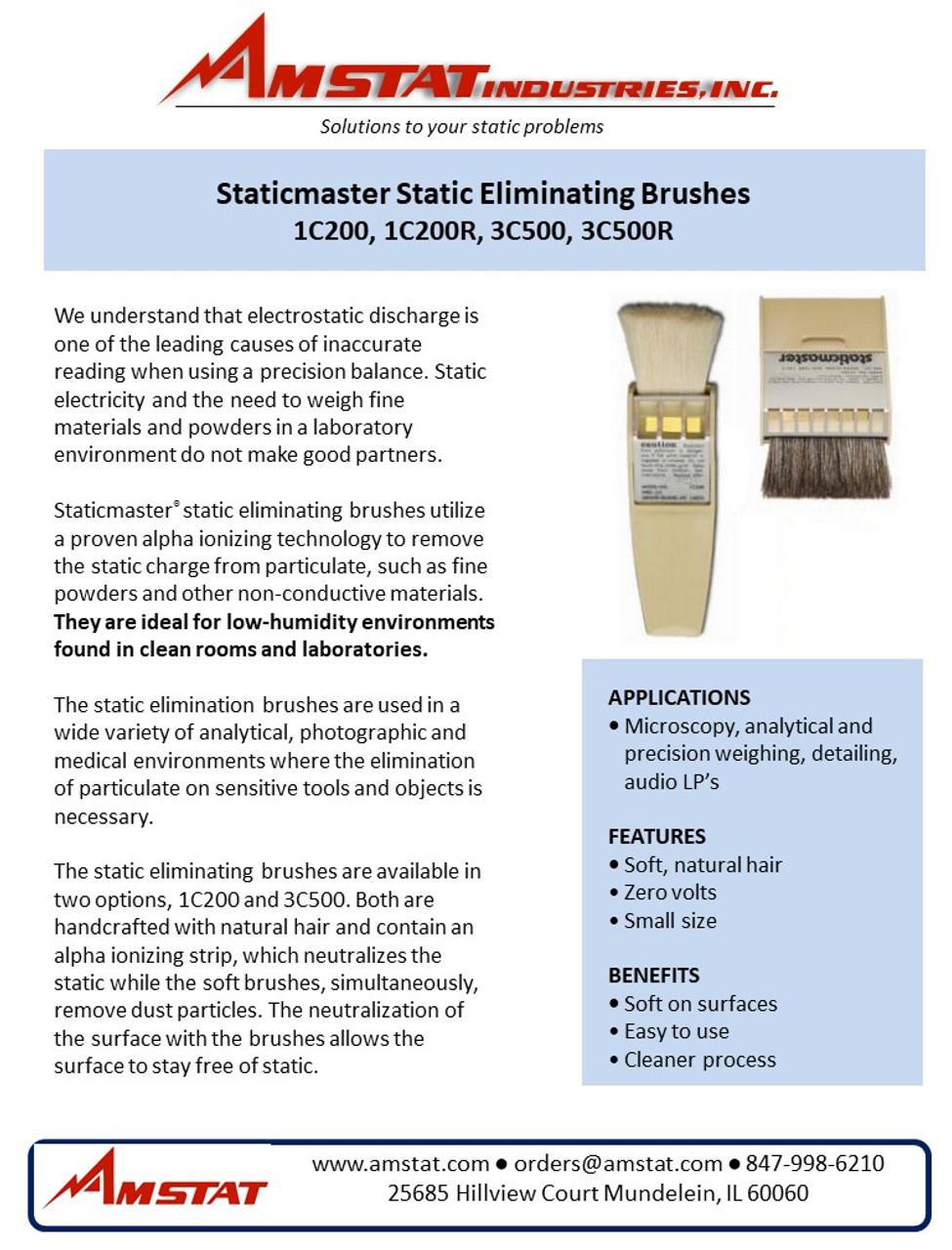 """Anti Static Brush with Ionizing Cartridge - 3"""""""