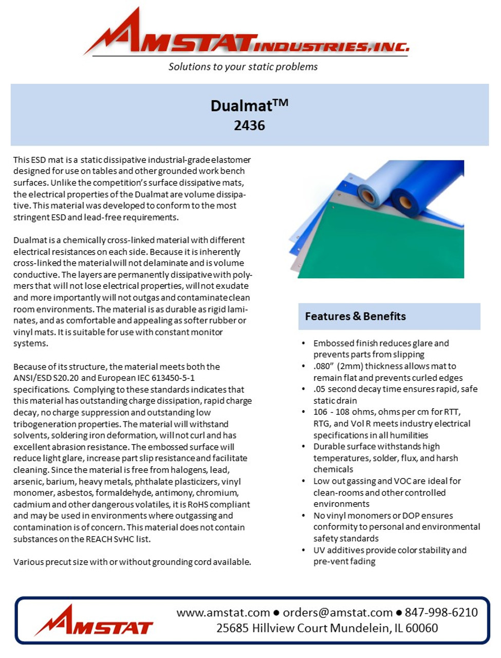 Dualmat Data sheet Page 1
