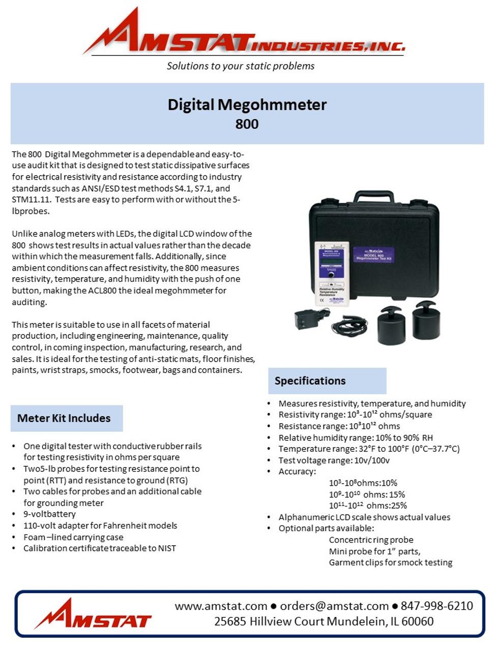 800 Digital Megohmmeter