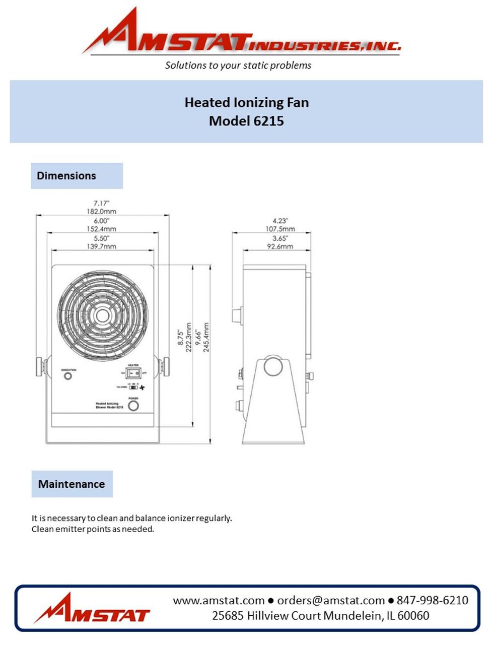 Heated Ionizing Fan 6215